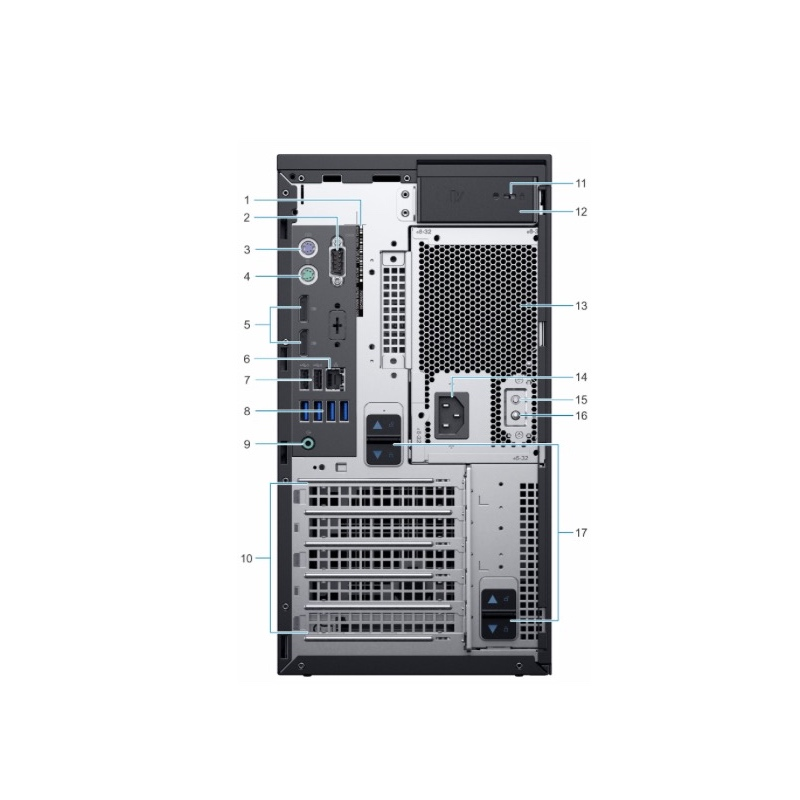 Factory price intel xeon 2224G CPU server poweredge T40 micro tower servidor