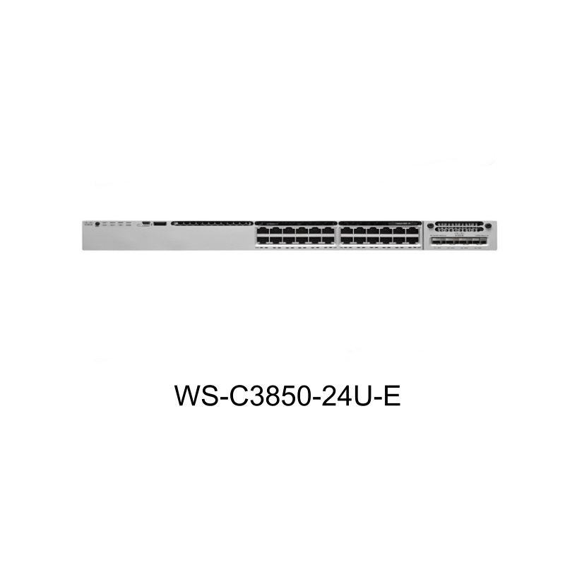 Cisco WS-C3850-24U-E Original New in Box 3850 Series 24 Ports Switched Virtual Interfaces (SVIs) UPOE IP Services